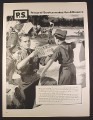Magazine Ad for Boy Scouts Learning Semaphore, Personal Service, 1957, 10 3/8 by 13 7/8