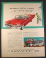 Magazine Ad for Chrysler 57 Windsor 2-Door Hardtop, Red with White Top, 1957, 10 3/8 by 13 7/8
