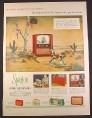 Magazine Ad for Sparton Cosmic Eye Television TV, Sky Beam Radios, 1953, 10 3/8 by 13 7/8