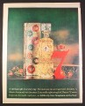 Magazine Ad for 7 Crown Whiskey, Christmas Gift Box, Decanter Bottle, 1962, 10 3/8 by 13 1/4