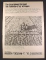 Magazine Ad for Massey Ferguson MF 125 Heavy Duty Chisel Plow, Farm Implement, 1968
