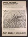 Magazine Ad for Massey Ferguson MF 125 Heavy Duty Chisel Plow, Farm Implement, 1968
