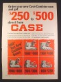 Magazine Ad for Case Combines, 5 Models, Farm Implement, 1968, 10 1/4 by 13 7/8