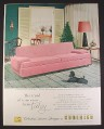 Magazine Ad for Kroehler Pink Sorrento Group Sofa, Retro Furniture, 1955, 10 1/2 by 13 1/2