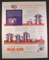 Magazine Ad for Wear-Ever Aluminum Cookware, Pans Pots Kettles, 1952, 10 1/2 by 13 1/2