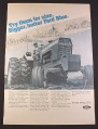 Magazine Ad for Ford 9000 Tractor, Ford Blue, 1972, 10 1/4 by 14 1/8