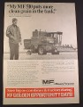 Magazine Ad for Massey Ferguson MF 510 Combine, 1971, 10 1/4 by 14 1/4