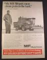 Magazine Ad for Massey Ferguson MF 510 Combine, 1971, 10 1/4 by 14 1/4