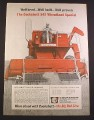 Magazine Ad for Cockshutt 542 Wheatland Special Combine, 1967, 10 1/4 by 14 1/8