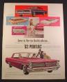 Magazine Ad for '63 Pontiac Cars, Strato-Chief Safari Station Wagon, Parisienne Sport Sedan 1962