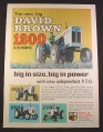 Magazine Ad for David Brown Tractors, 1200 Selectamatic, 990 880 770, Farm Implement, 1967