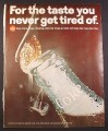 Magazine Ad for Coca-Cola Coke, Vapor Coming Out of Bottle As Top Opened 1967 10 3/8 by 13 1/4