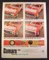 Magazine Ad for Chevrolet Camaro Car, Sport Coupe, Rally Sport, SS, Redline, 1967
