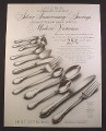 Magazine Ad for Lunt Sterling Silverware, Modern Victorian Pattern, 1968, 9 3/4 by 12 1/2