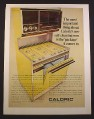 Magazine Ad for Caloric Ultra Clean Oven Broiler, Harvest Gold, Kitchen Appliance, 1968