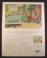 Magazine Ad for Chevrolet Bel Air 4 Door Green Sedan, 1954, 9 3/4 by 12 1/2