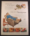 Magazine Ad for BarcaLounger, 5 Models, Furniture, 1954, 9 3/4 by 12 1/2