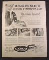 Magazine Ad for Super Casco Steam & Dry Iron, 1954, 9 3/4 by 12 1/2