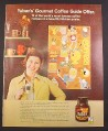 Magazine Ad for Yuban Instant Coffee, Gourmet Coffee Guide Poster Offer, 1973, 10 1/8 by 12 7/8
