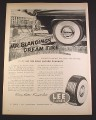 Magazine Ad for Lee Super DeLuxe Tires, Whitewall, Dream Tires, 1952, 10 3/8 by 14