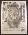 Magazine Ad for Dreyfus Fund Inc, Mutual Investments, Lion, 1966, 10 3/8 by 13 5/8