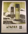 Magazine Ad for Bark Wood & Lime Wood After Shave, 1966, 10 3/8 by 13 3/4