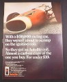 Magazine Ad for Autolite Ignition Coil, Indianapolis 500 Race Car, 1967, 10 1/2 by 13 5/8
