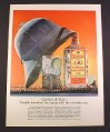 Magazine Ad for Gordon's London Dry Gin, Pith Helmet Leaning on Bottle, 1964, 10 1/2 by 13 3/4