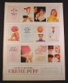 Magazine Ad for Max Factor Crème Puff Cosmetics, Make-Up, 10 1/2 by 13 3/4