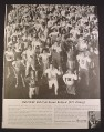 Magazine Ad for Bulova Watches, 375 Cheerleaders, 1963, 10 3/8 by 13 5/8