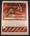 Magazine Ad for International Sterling Silverware, Rhapsody Pattern, 1956, 10 1/2 by 13 7/8