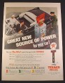 Magazine Ad for Texaco Sky Chief Petrox Gas, Pump, Tall Sign, 1956, 10 1/2 by 13 7/8