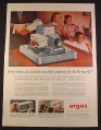 Magazine Ad for Argus Model 300 Color Slide Projector, 1958, 10 1/2 by 13 7/8