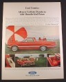Magazine Ad for Ford Fairlane Ranchero, Red, Front & Side View, 1967, 10 1/2 by 13 5/8