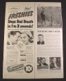 Magazine Ad for Freshies Tablets, Stops Bad Breath, Candy, 1951, Ad is 1/2 of a 10 3/8 by 13 7/8
