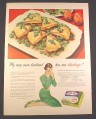 Magazine Ad for Birds Eye Green Peas, My Very Own Husband Has Me Blushing, 1948