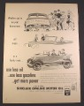 Magazine Ad for Sinclair Opaline Motor Oil, Can, Sinclair Gasoline Sign, 1948, 10 3/8 by 13 7/8