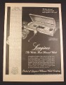 Magazine Ad for Longines Wittnauer Watches & Case, Pearson, Ingrid, 1948, 10 3/8 by 13 7/8