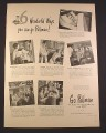 Magazine Ad for Pullman Train Cars, 6 Wonderful Ways You Can Go Pullman 1948 10 3/8 by 13 7/8
