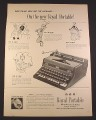 Magazine Ad for Royal Portable Typewriter, Everything New But The Alphabet, 1948