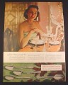 Magazine Ad for 1847 Rogers Bros Silverplate Silverware, 4 Patterns, Young Wife, 1948