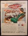 Magazine Ad for Hydra-Matic Drive, GM, General Motors, Oldsmobile, 1945