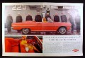 Magazine Ad for Chevrolet Chevelle Red Convertible Car, Sailors At Attention, 1964