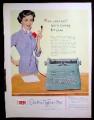 Magazine Ad for IBM Electric Typewriter, Secretary Illustration, 1953