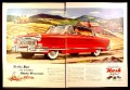 Magazine Ad for Red Nash Ambassador Country Club Car, Farm In Background, 1953