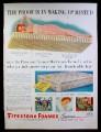 Magazine Ad for Firestone Foamex Supreme Mattress, 1953