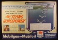 Magazine Ad for Mobilgas Mobiloil, Squadron of Avengers, Pump Globe, WWII, 1944