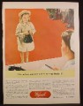 Magazine Ad for Wyeth Inc, I Want An Appointment To See My Daddy, WWII,  1944