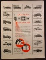 Magazine Ad for AC Spark Plugs, Cars From 1916 to 1953, 1953