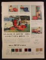 Magazine Ad for Leed's Trip Zip Ensemble Luggage, Matched Sets, 1953